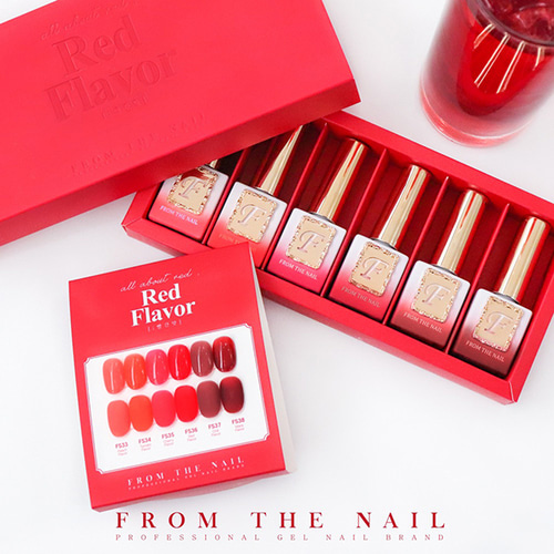 FROM THE NAIL 프롬더네일 Red Flavor SET 12ml
